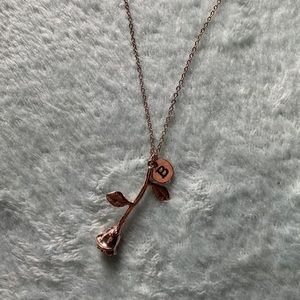 Brandy Rose Gold B Necklace!!